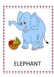 English Worksheets: ANIMALS FLASH CARDS ( 1 )