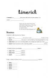 Limerick Worksheet - Davezan