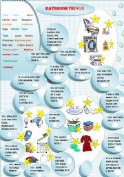 English Worksheet: BATHROOM THINGS