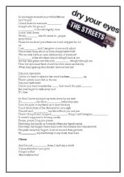 English Worksheets: Song for verbs, also reading comprehension