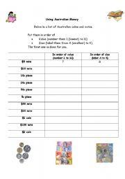 english worksheets using australian money. Black Bedroom Furniture Sets. Home Design Ideas