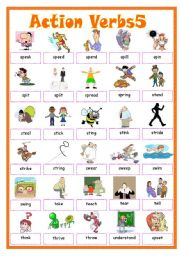 English Worksheets: Action Verbs5