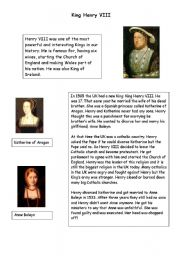 English Worksheets: Henry VIII