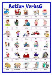 English Worksheet: Action Verbs6