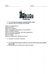English Worksheets: mobile websearch