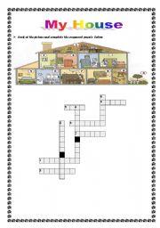 My house crossword puzzle