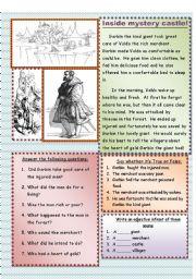 English Worksheet: Inside mystery castle