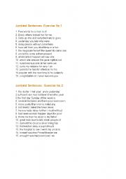 English Worksheets: Jumble