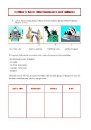 English Worksheets: Getting to know other cultures