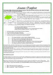 English Worksheet: THE AMAZON RAINFOREST