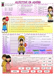 English Worksheets: ADJECTIVE OR ADVERB