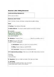 English Worksheets: Business Letter