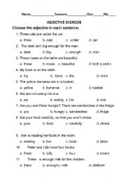 Worksheets Pe Worksheets english teaching worksheets adjectives adjective exercise