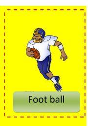 English Worksheet: sports flash cards