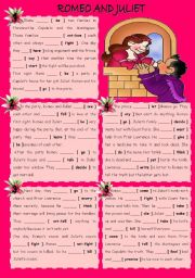 English Worksheet: ROMEO AND JULIET ( for Valentine´s Day )
