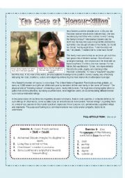 English Worksheets: Honour-killing