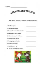 English Worksheets: The Fox and The Dog