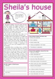 English Worksheets: Sheila�s house
