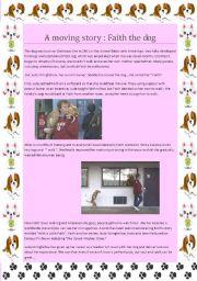 English Worksheets: a moving dog story