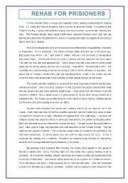 English Worksheets: REHABILITATION FOR PRISONERS