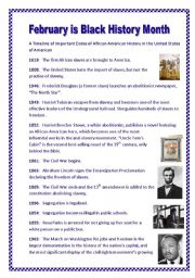 It is an image of Playful Black History Month Quiz Printable