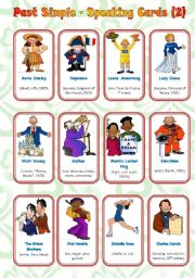English Worksheets: Past Simple - Speaking Cards (2/2) ** fully editable** Instructions Included
