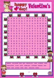 VALENTINE´S DAY WORDSEARCH