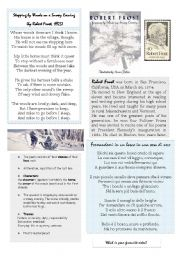 English Worksheets: Robert  Frost and