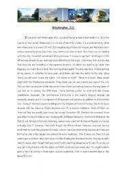 English Worksheet: Washington, D.C.