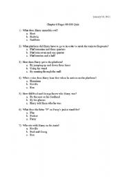 photo regarding Harry Potter Quiz Printable identify English worksheets: Harry Potter Quiz