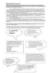 English Worksheet: Shock tactics in Advertising / Obesity