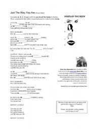 English Worksheets: Just The Way You Are (Bruno Mars)