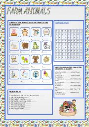 English Worksheet: FARM ANIMALS