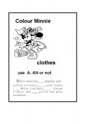 Use A / An or not  and review the clothes.