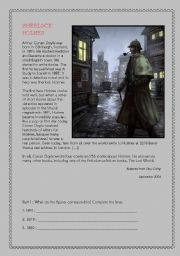 English Worksheet: Sherlock Holmes - Reading Comprehension A2