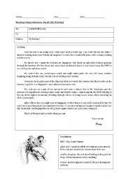 English Worksheets: Reading Comprehension (My Holiday)