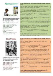 English Worksheet: Make a timeline of famous people - biographies/simple past tense, project part 3 of 3 **editable**