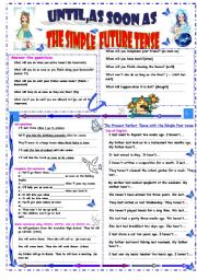 English Worksheet: simple future tense
