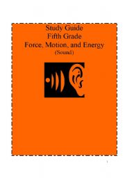 English Worksheet: Science Study guide for 5th grade. Force, Motion and Energy.Questions included