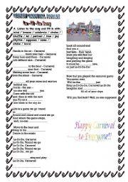 English Worksheets: La-Di-Da  Disney Carnival Song
