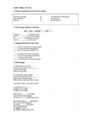 Twilight worksheets