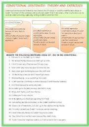 English Worksheet: REWRITE CONDITIONAL SENTENCES (KEY INCLUDED)