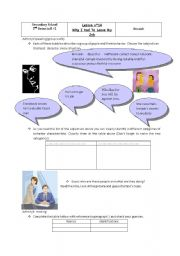 English Worksheet: Lesson n�14:Why I had to leave my job.