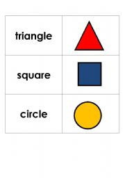 Shapes Flashcards (2D and 3D)