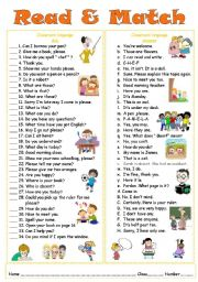 English Worksheets: Classroom Languages( with keys )