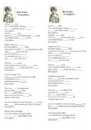 English Worksheets: Elvis Presley - In the ghetto -lyrics