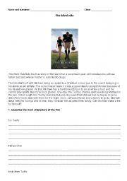 English Worksheets: Film the blind side