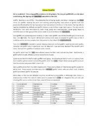 English Worksheet: Urban graffiti