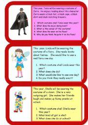 English Worksheets: mini comprehensions - costumes
