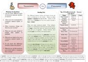 English Worksheets: Venomous Vs. Poisonous